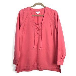 💎3/$25 J.Jill Tie Front Tunic Womens Size Medium
